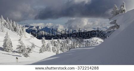 Boise, Idaho skiing - stock photo