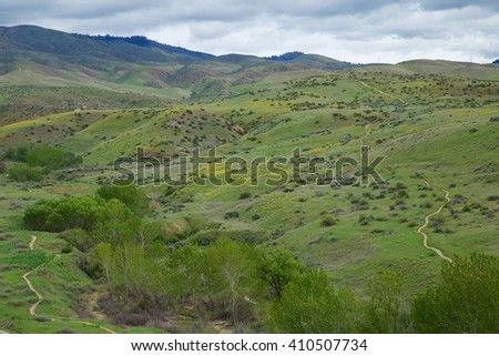 Boise, Idaho trail system - stock photo