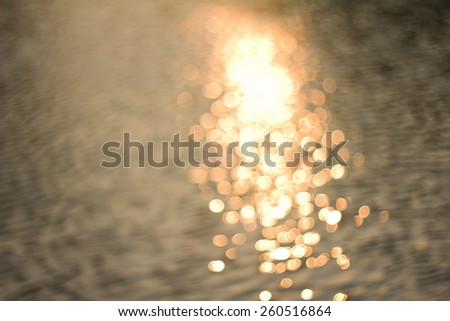 Boke from the reflection of water - stock photo