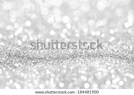 Bokeh abstract background wallpaper silver diamond for wedding card design - stock photo