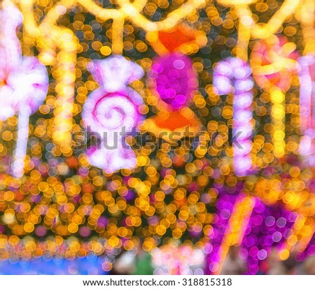 Bokeh. Abstract Christmas light background. Background. Holiday Abstract Glitter Defocused Background With Blinking lights. Blurred Bokeh. - stock photo