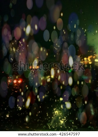 Bokeh abstract rainbow colorful background.