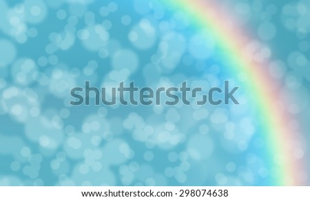 Bokeh abstract rainbow colorful background,illustration - stock photo