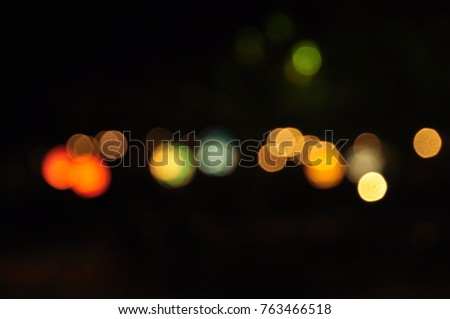 Bokeh and beautiful blur from Sai Kaew beach at night at Sai Kaew beach, Koh Samet, Rayong, Thailand on 25 Nov 2017 Nightlife is a stop. And shoot Of tourists