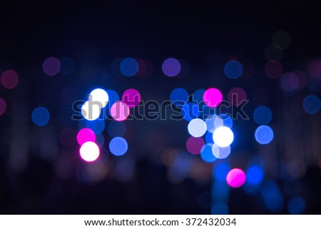 bokeh and flare of blured background night scene in concert party - stock photo