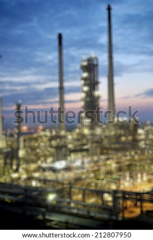 Bokeh at Oil refinery
