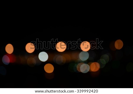 Bokeh background of different color