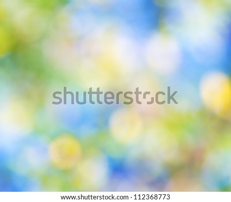 Bokeh background of foliage. Nature composition.