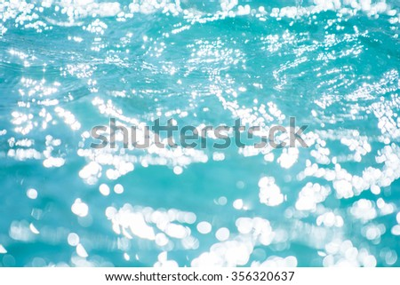 Bokeh backgrounds blue water splash.