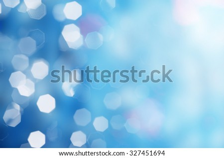 Bokeh blue lights background. - stock photo