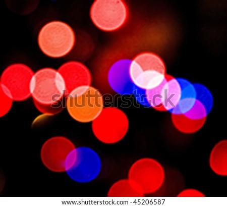 Bokeh blur circles - stock photo