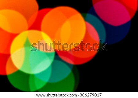 bokeh blurred abstract beautiful color light