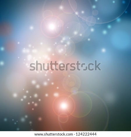 Bokeh blurred lights background in blue and pink pastel colors - stock photo