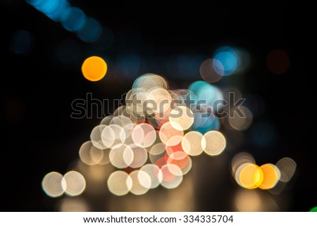 bokeh blurry abstract beautiful color light - stock photo