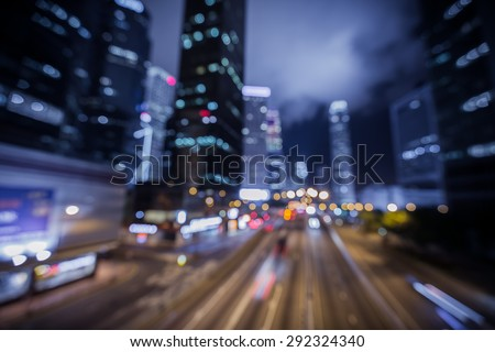 Bokeh city light background with color tone tuned
