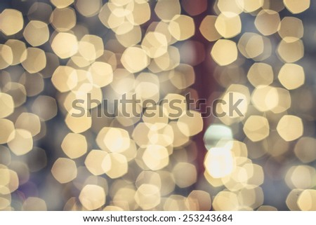 bokeh de focused lights abstract background - stock photo