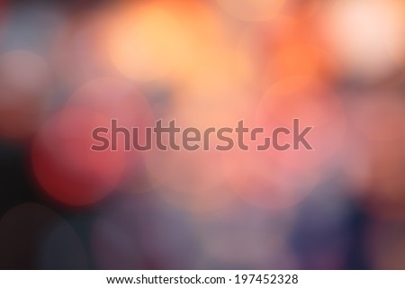 Bokeh defocused abstract red  orange circle text background :vibrant-blur, illuminated, new year glowing, ,circle-celebration,sphere- festival, disco, nightlife, round,circular, - effect many - stock photo