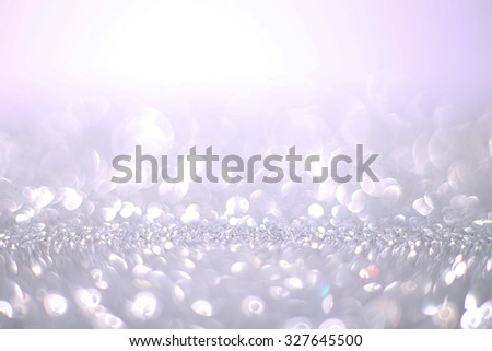 Bokeh glitter abstract background wallpaper for wedding and Christmas festival design. - stock photo