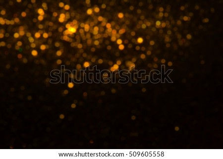 Bokeh gold colour abstract background.