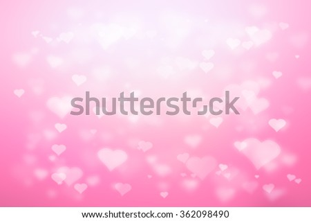 Bokeh heart abstract background , holiday valentine's day - stock photo