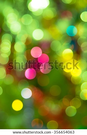 bokeh holiday