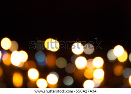 Bokeh image illustration blurry