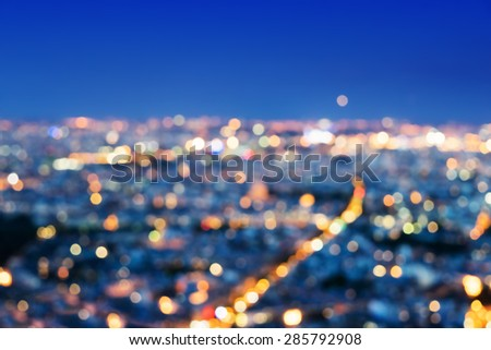 bokeh in Paris, France,  - stock photo