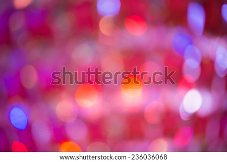 Bokeh, It's out of focus but It's beautiful and colorful picture. For Christmas Background - stock photo