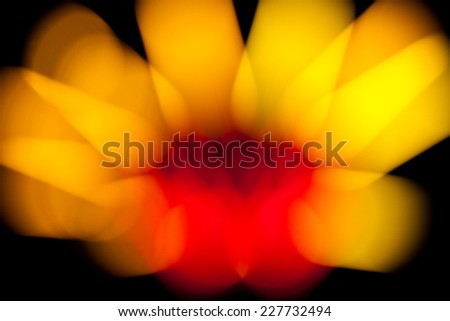 Bokeh lamp colorful look like flower