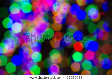 Bokeh light background colors