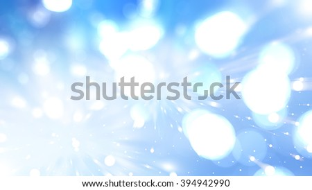 Bokeh light blue abstract background.