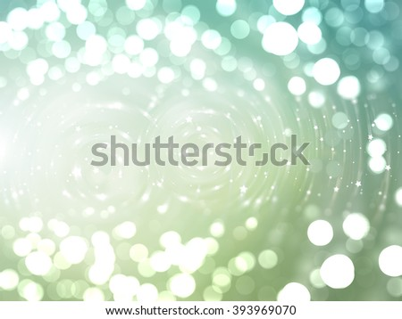 Bokeh light blue and green abstract background.