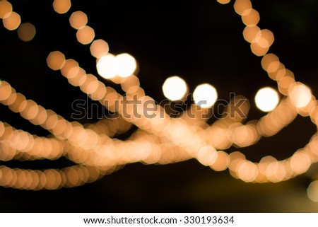 Bokeh light decoration and background for event or pattern design