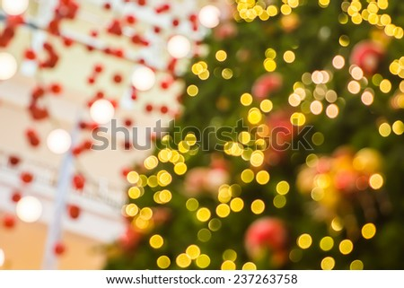 Bokeh light decoration for Christmas tree