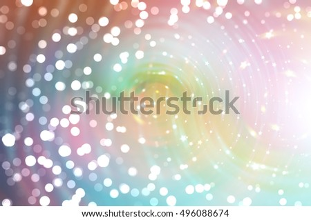 Bokeh light multicolored abstract background. illustration digital.