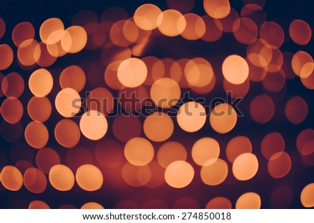 Bokeh light of the LED lamp in the night, Color effect - stock photo