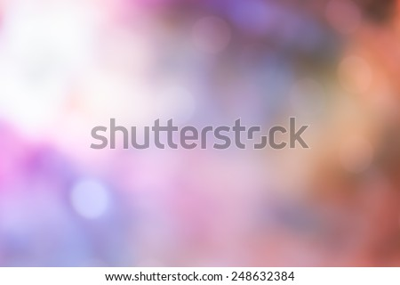 Bokeh Light on pink Pastel color Background - stock photo