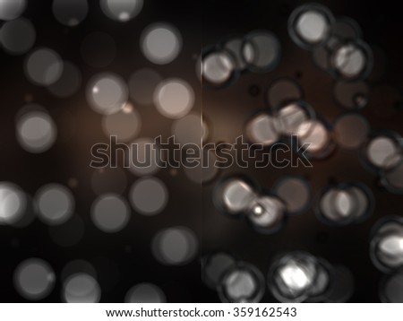 Bokeh light, shimmering blur spot lights on beige abstract background.