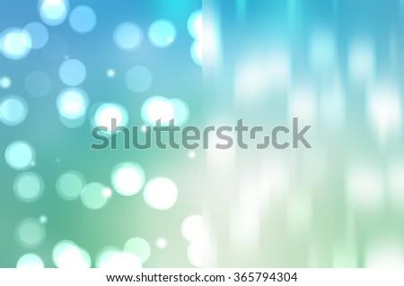 Bokeh light, shimmering blur spot lights on blue abstract background. - stock photo