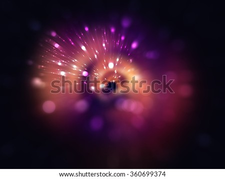 Bokeh light, shimmering blur spot lights on red abstract background. - stock photo