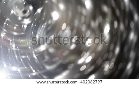 Bokeh light silver abstract background.