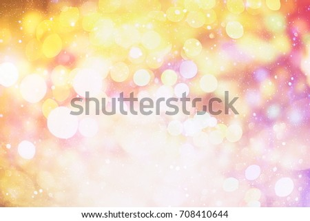 Bokeh light vintage abstract background.
