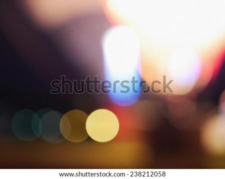 Bokeh light vintage background lights - stock photo