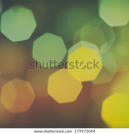 Bokeh light vintage background - square size image - stock photo
