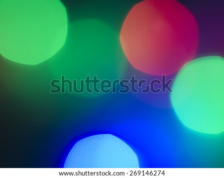 bokeh light with red green blue.captured by DSLR - stock photo
