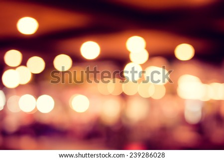 bokeh lighting decor. - stock photo