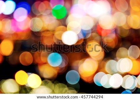 bokeh lights - stock photo