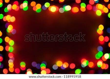 bokeh lights frame - stock photo