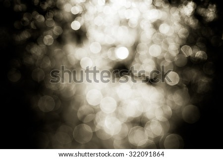 bokeh lights on black background  - stock photo