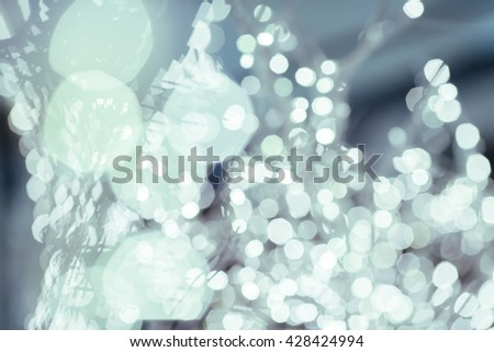 Bokeh lights that decorate the party as wallpaper. - stock photo